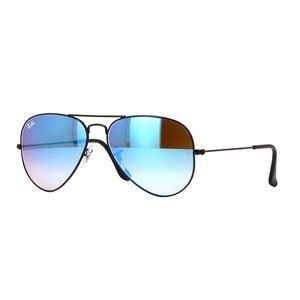 Ray Ban Aviator Flash Lenses Gradient Blue Mirror